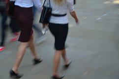 Two women in miniskirt Stock Image