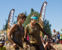Two women near the finish Royalty Free Stock Photo