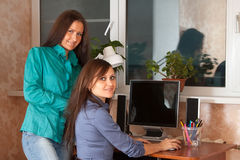 Two women  in office Stock Photography