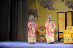 Two women - Opera: Chu Han contention Royalty Free Stock Images