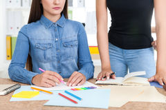 Two women painters Royalty Free Stock Photography