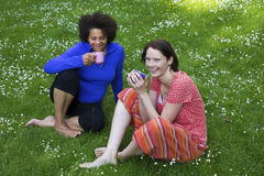 Two women in park Stock Images