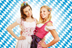Two women in pink dress in Bavaria Stock Photography