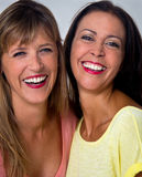 Two women portrait Royalty Free Stock Photos