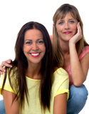Two women portrait Royalty Free Stock Photo