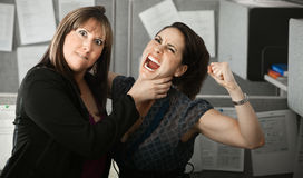 Two Women Quarelling Royalty Free Stock Images