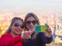 Two women selfie Stock Photo