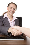 Two Women Shaking Hands Royalty Free Stock Image