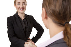 Two Women Shaking Hands Stock Photography