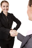 Two Women Shaking Hands Royalty Free Stock Photos