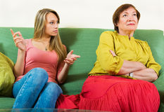 Two women sharing bad news Stock Photography