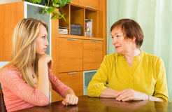 Two women sharing bad news Royalty Free Stock Photography