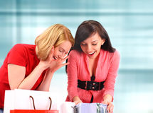 Two women shoping Royalty Free Stock Images