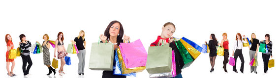 Two women shopping and 10 other Stock Image