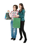 Two women shopping Stock Photography