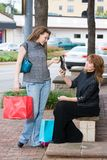 Two Women Shopping Stock Photo