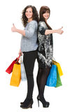 Two women with shopping bags Royalty Free Stock Photo