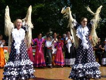 Two Women Spanish Dancers Stock Images
