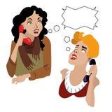 Two women royalty free illustration