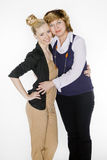 Two women in suits Stock Photography