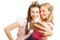 Two women taking selfie Stock Images