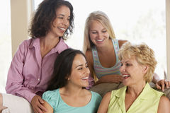 Two Women And Their Teenage Daughters Royalty Free Stock Images