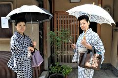 A Kyoto street in Japan stock images