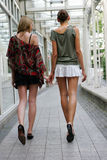 Two women walking Royalty Free Stock Photo