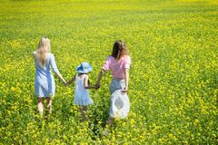 Two Women With A Child Stock Photography