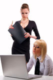 Two women work Stock Images