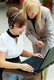 Two women working Stock Photo