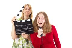 Two women working in entertainment industry Royalty Free Stock Photography