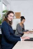 Two women are working in the office Royalty Free Stock Photo