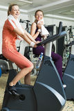 Two Women Working Out Royalty Free Stock Photos