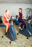 Two Women Working Out Royalty Free Stock Photo