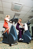 Two Women Working Out Stock Images