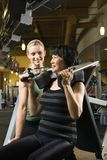 Two women working out. Stock Photography