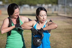 Two Women Working Out Royalty Free Stock Image