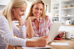 Two women working together at home Stock Photography