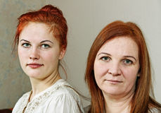 Two women. Royalty Free Stock Image
