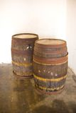 Two wood kegs Stock Images