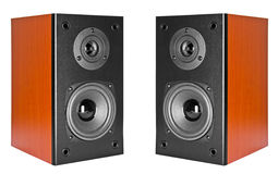 Two Wood Loud Speakers Royalty Free Stock Photo