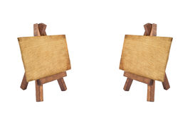 Two wood notice board Royalty Free Stock Photo