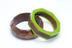Two wooden bangles Royalty Free Stock Photo