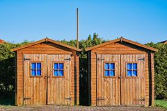 Two Wooden Barn Stock Images