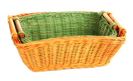 Two Wooden Baskets Stock Photos
