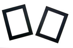 Two wooden black frames Royalty Free Stock Images