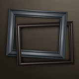 Two wooden black frames Stock Photography