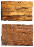 Two wooden boards Royalty Free Stock Images