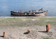 Two wooden boats Royalty Free Stock Photography